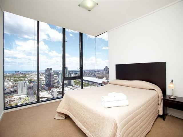 Melbourne Tower Sub-Penthouse Apartment Master Bedroom daytime View