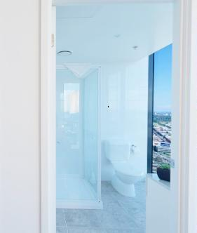 Melbourne Tower Sub-Penthouse Apartment Master Bedroom Ensuite View